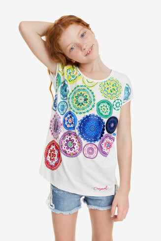 White Mandalas T-shirt Carolina