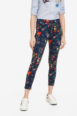 Ankle-length floral trousers Rodas