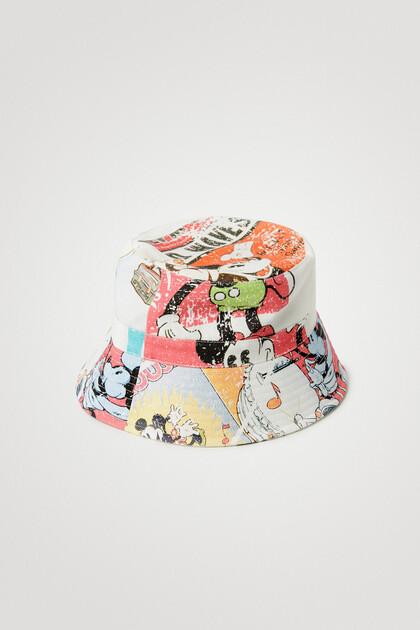 Graphic denim hat
