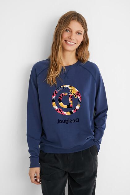 Sweatshirt met print van omgekeerde D