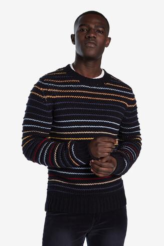 Jersei de tricot ratlles multicolor
