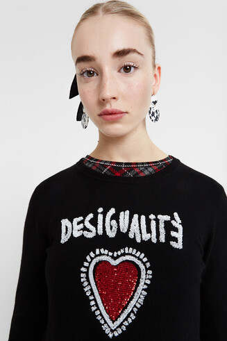 Desigualité heart sweater