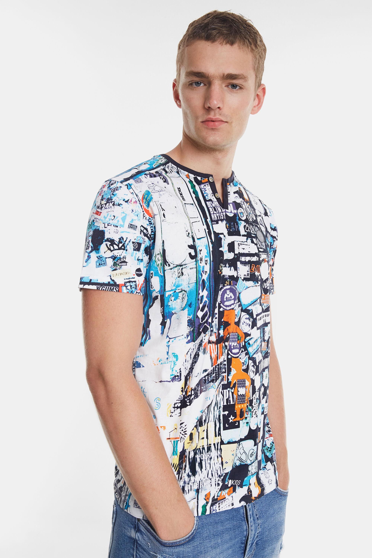 T-shirt multi-imprimé urbain | Desigual.com
