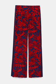 Floral print palazzo trousers | Desigual