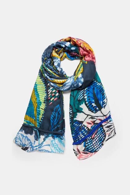 Rectangular floral foulard