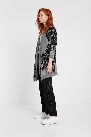 Knit floral sweater   Desigual