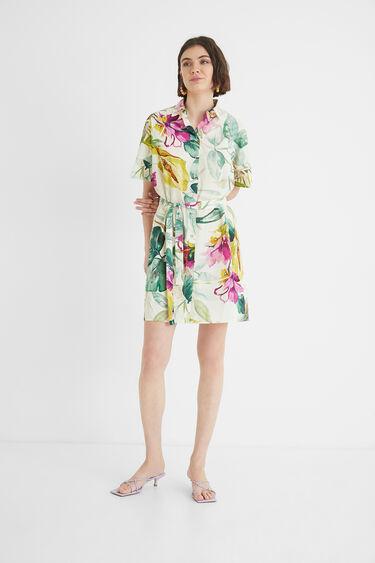 Safari floral shirt dress | Desigual