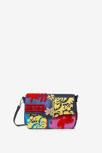 Textured patchwork bag