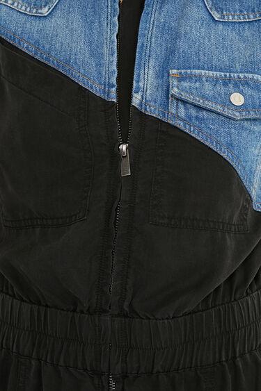 Vestido corto bimateria | Desigual