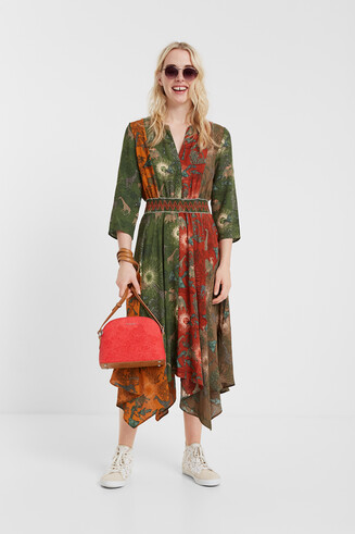 Ethnic asymmetric dress