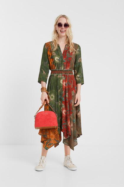 Asymmetrische etnische jurk