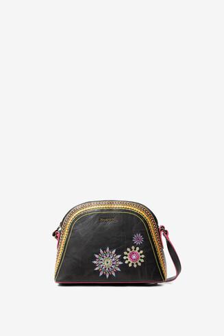 Sling bag embroidered mandalas