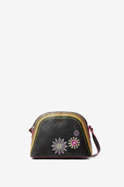 Sling bag embroidered mandalas