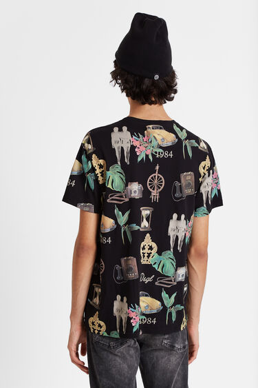 T-shirt patch with multi-print | Desigual