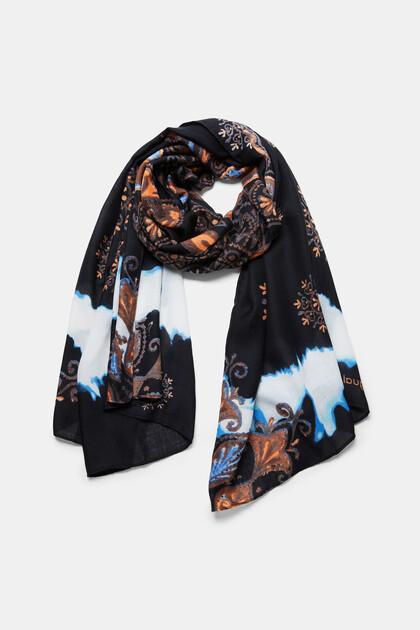 Rectangular mandala foulard