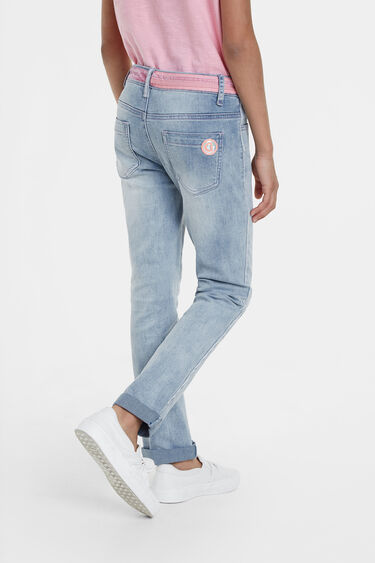 Jeans embroidered heart | Desigual