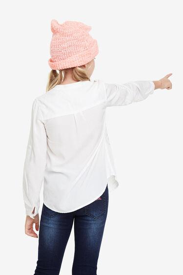 Camisa blanca missatges | Desigual