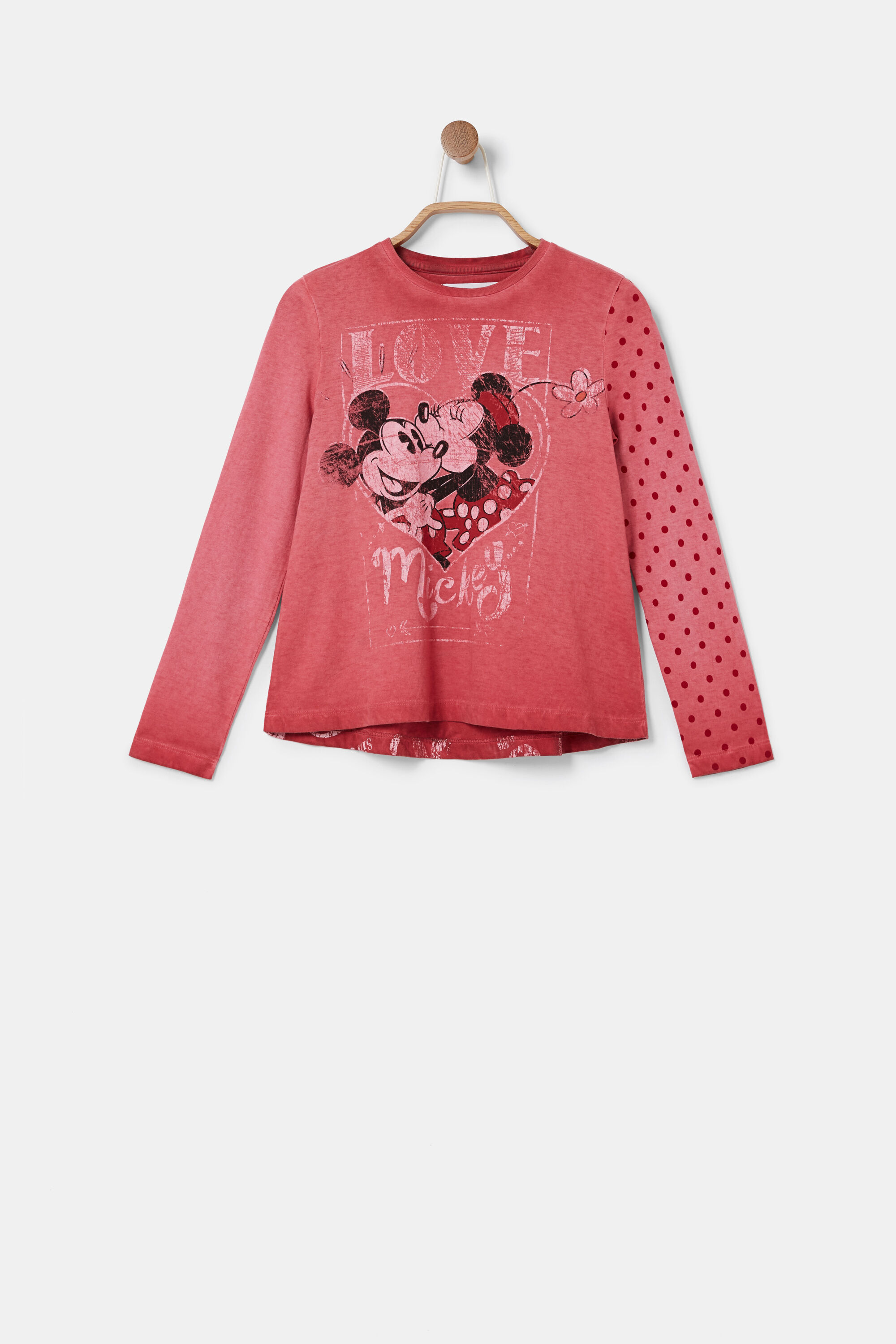 Long sleeve Minnie Mouse T-shirt - RED - 3/4
