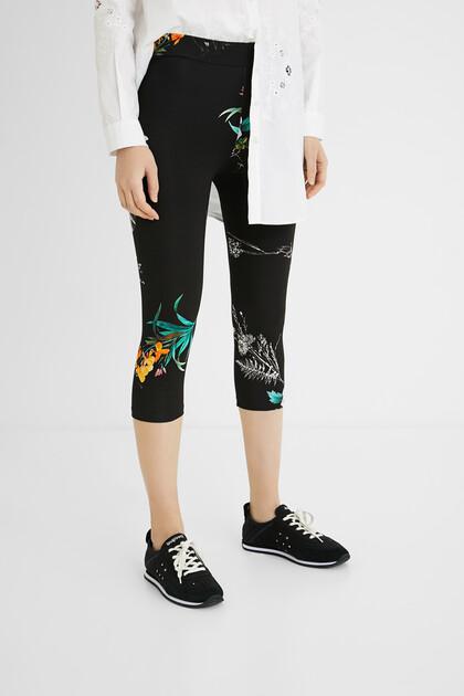Midi leggings elastic waist