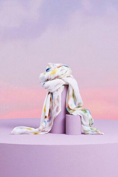 Rechthoekige sjaal met mandala's