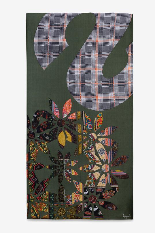 Foulard à fleurs et à carreaux | Desigual