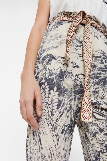 Japanische knöchellange Paperbag-Hose | Desigual
