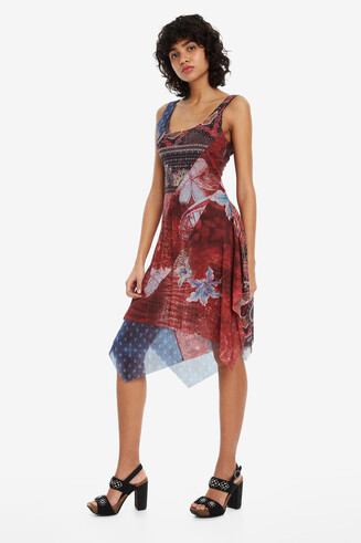 Patchwork hanky-hem dress Pequot