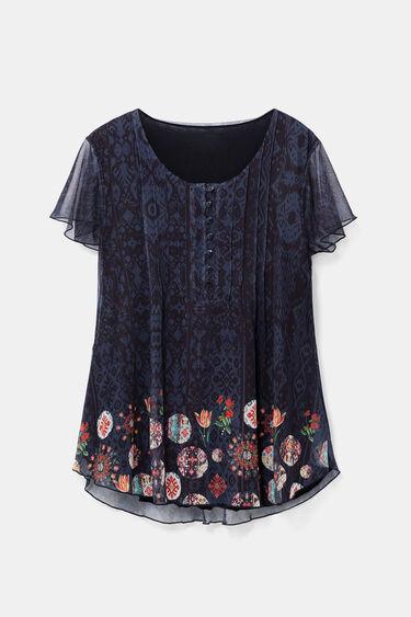 T-shirt boho floral double épaisseur   Desigual