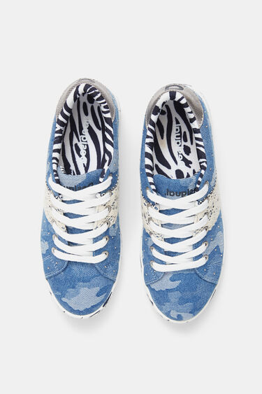 Denim sneakers camouflage | Desigual