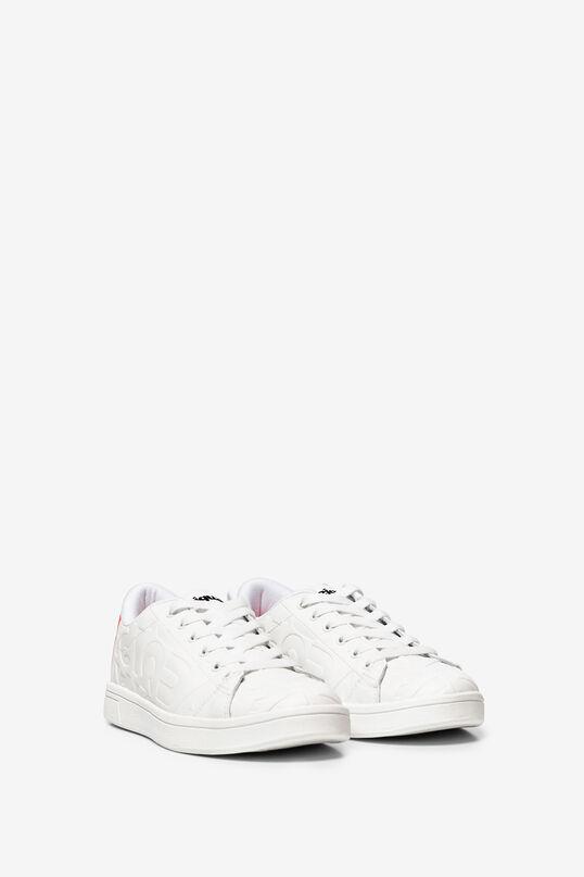 Weiße, geprägte Sneakers | Desigual