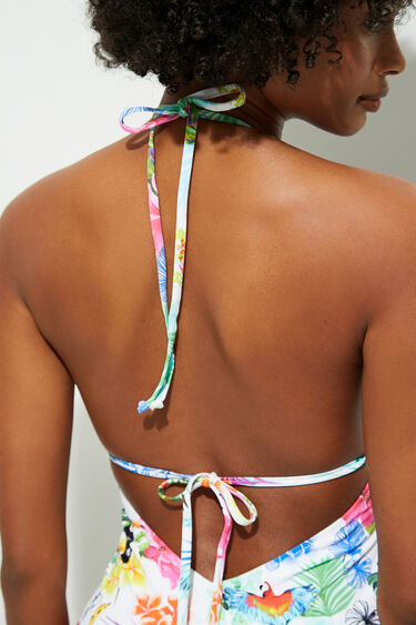 Tropical straps swimsuit | Desigual