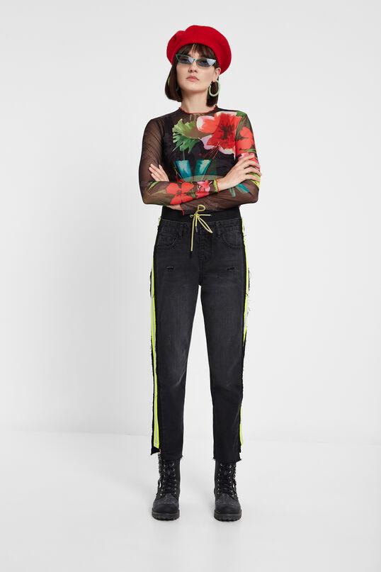 Pantalons híbrids denim esportius | Desigual