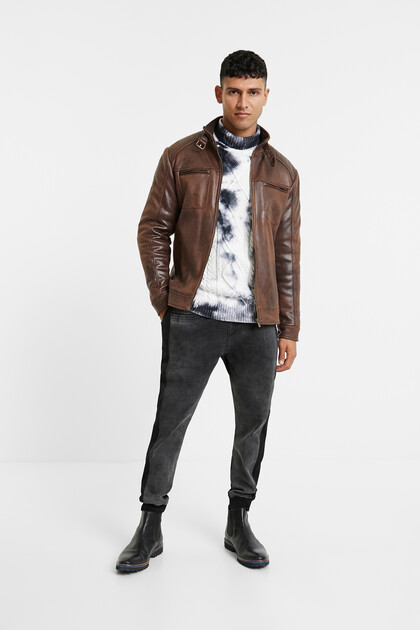 Leather effect jacket