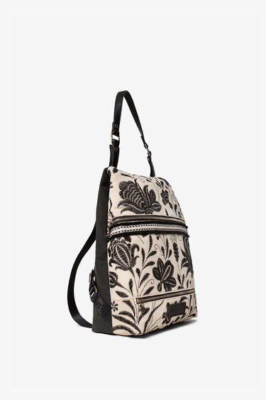 Embroidered African inspiration backpack | Desigual