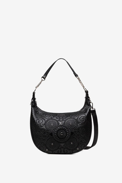 Sling bag with galactic mandalas