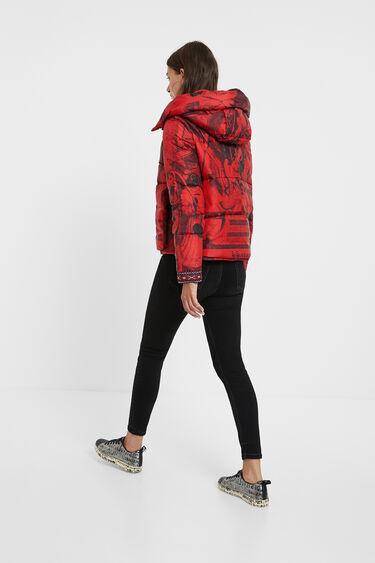 Short padded print jacket | Desigual