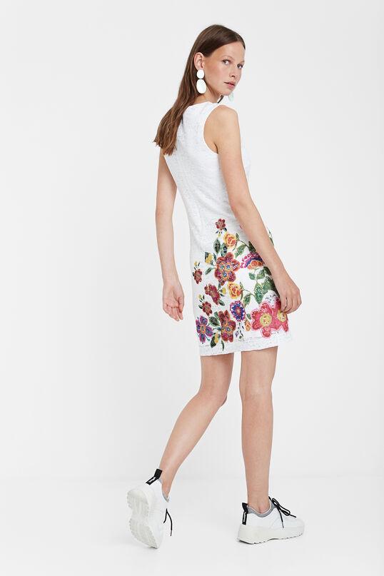 c9bfd69ad727 Vestito bianco di pizzo - Karlin | Desigual.com