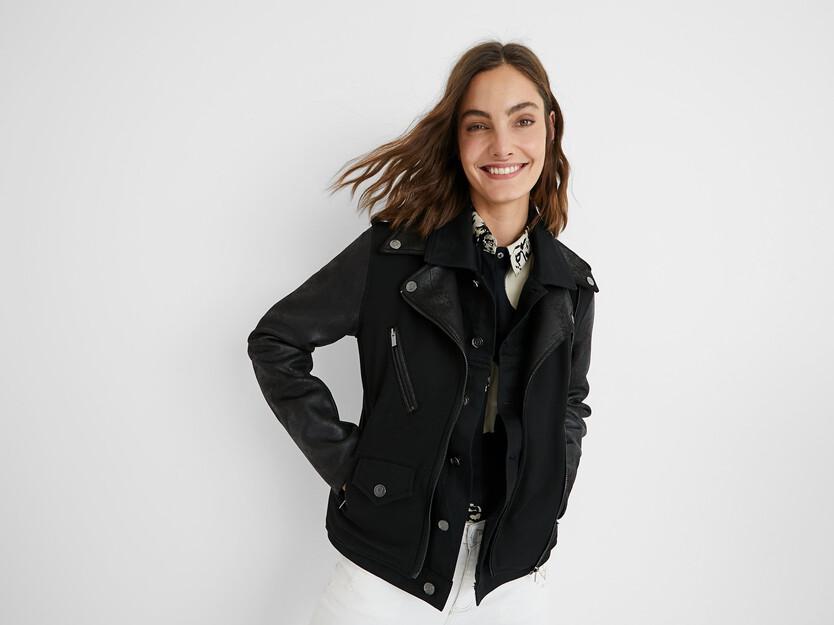 Hybrid biker jacket
