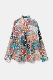Blumige Boho-Bluse mit Puffärmeln | Desigual