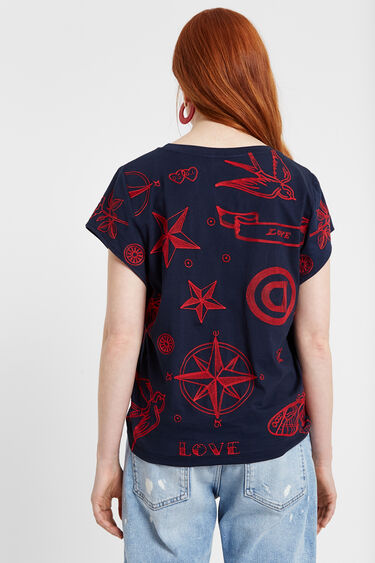 Camiseta marinera bordada | Desigual