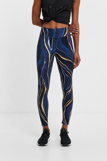 Marmorierte Leggings im Slim Fit | Desigual