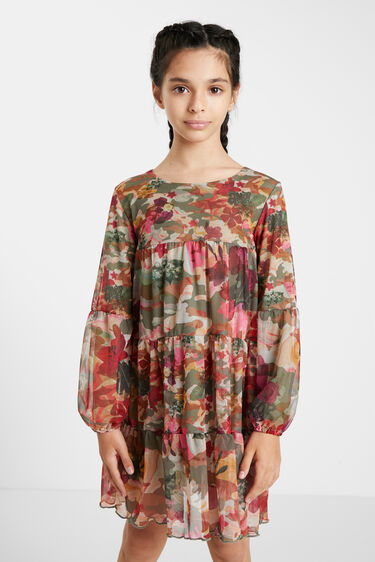 Dress flounces camoflower | Desigual