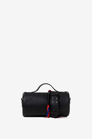 Red barrel bag in logomania | Desigual