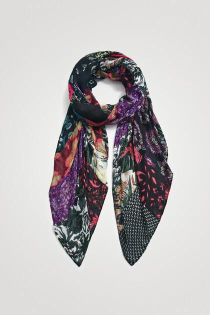 Long scarf digital multi patch