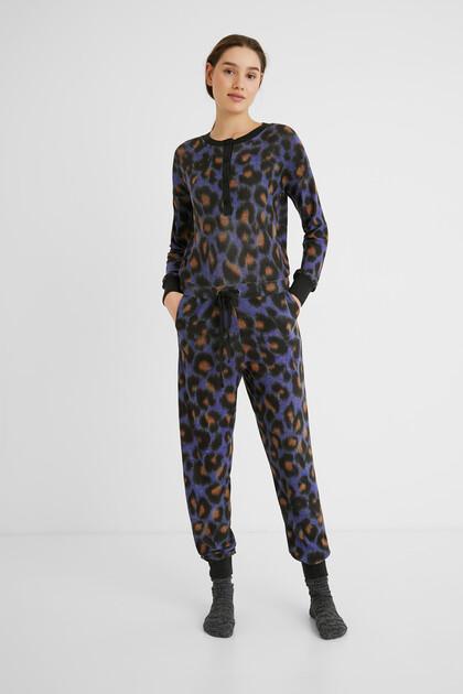Pyjama overall léopard
