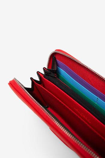 Red coin purse in logomania | Desigual