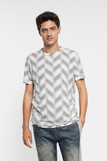 T-shirt jacquard chevrons