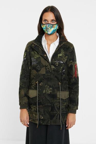 Military parka floral print | Desigual
