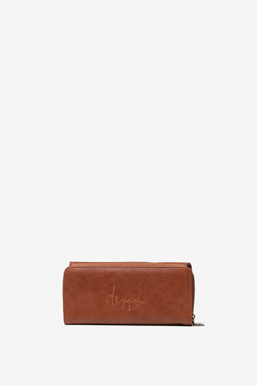 Portefeuille rectangulaire gravé à mini clous. | Desigual