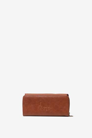 Rectangular wallet, embossed with mini-studs | Desigual